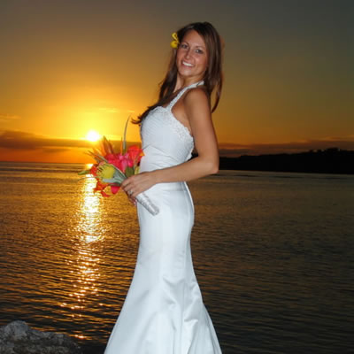 Sunset beach weddings in the Florida Keys